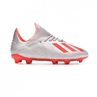 Football Boots  adidas Kids X 19.1 FG  Silver metallic-Hi red-White