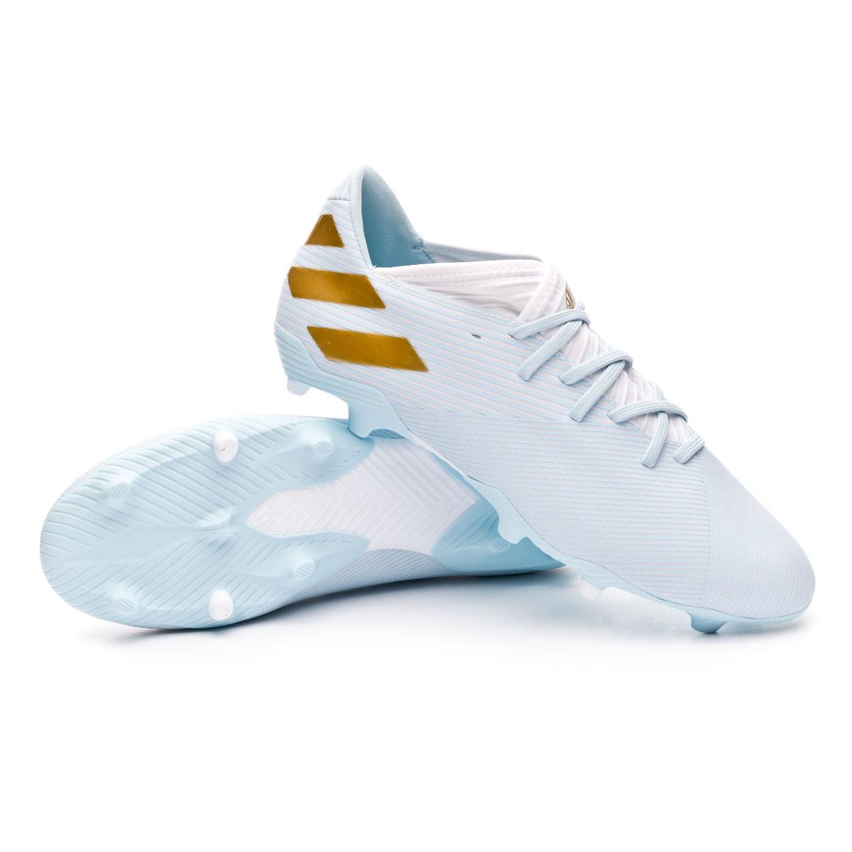 petróleo profundamente vesícula biliar  Football Boots adidas Nemeziz Messi 19.3 FG 15 Years Boaqua-Gold metallic -  Football store Fútbol Emotion