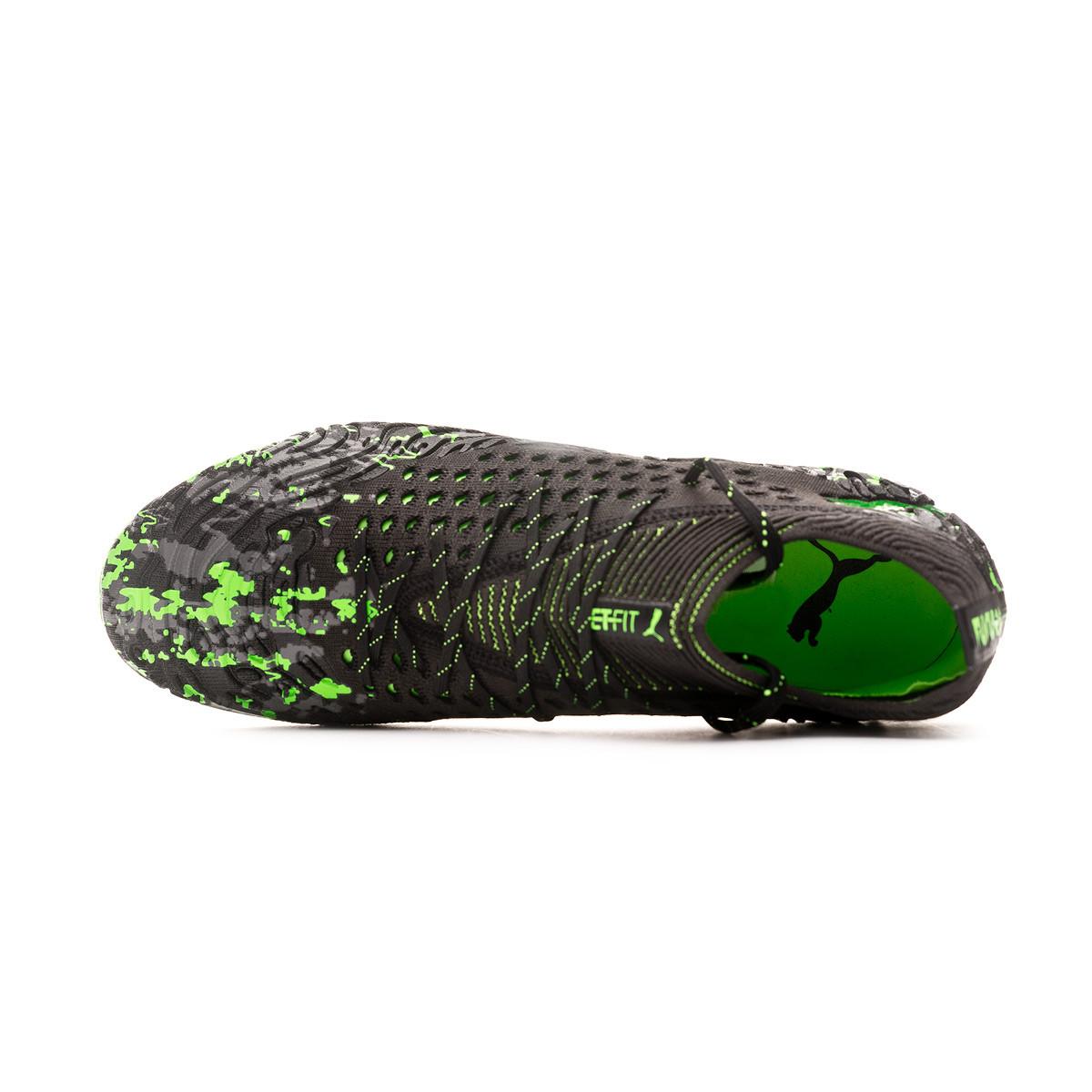 Bota Future 19.1 Netfit MG Puma black Charcoal gray Green gecko