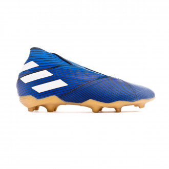 Chaussure de foot  adidas Nemeziz 19+ FG enfant Football blue-White-Core black