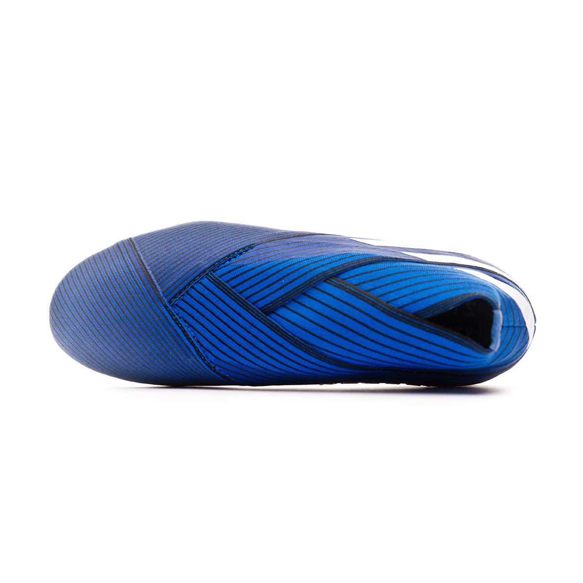Football boots adidas kids nemeziz 19 fg football blue white core black football store fútbol emotion