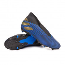 Chuteira Nemeziz 19.3 Laceless FG Football blue-Gold metallic-Core black