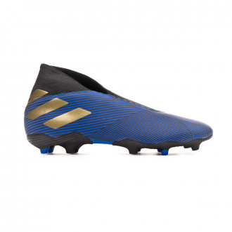 Football Boots  adidas Nemeziz 19.3 Laceless FG Football blue-Gold metallic-Core black