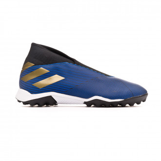 Chaussure de football  adidas Nemeziz 19.3 LL Turf Football blue-Gold metallic-Core black