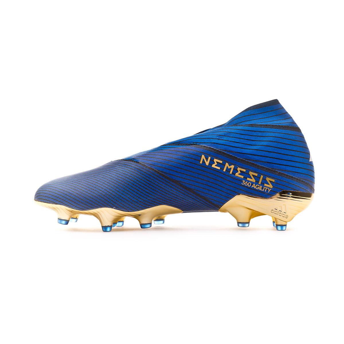 Bota Nemeziz 19 Fg Football Blue White Core Black