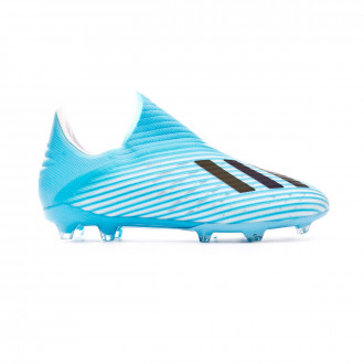 Chaussure de foot adidas X 19+ FG Niño Bright cyan-Core black-Shock pink