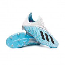 Football Boots X 19.1 FG Niño Bright cyan-Core black-Shock pink