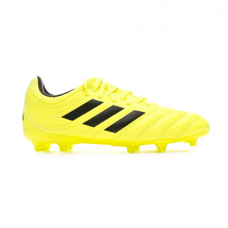 Chaussure de foot adidas Copa 19.3 FG Enfant Solar yellow-Core black-Solar yellow