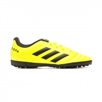 Chaussure de football adidas Copa 19.4 Turf Niño Solar yellow-Core black-Solar yellow