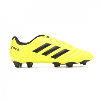 Zapatos de fútbol adidas Copa 19.4 FG Niño Solar yellow-Core black-Solar yellow