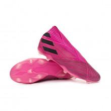 Chuteira Nemeziz 19+ FG Niño Shock pink-Core black-Shock pink