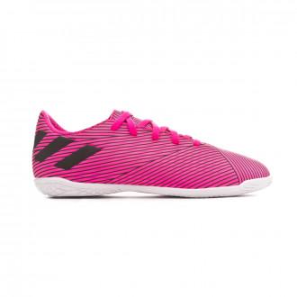 Tenis adidas Nemeziz 19.4 IN Niño Shock pink-Core black-Shock pink