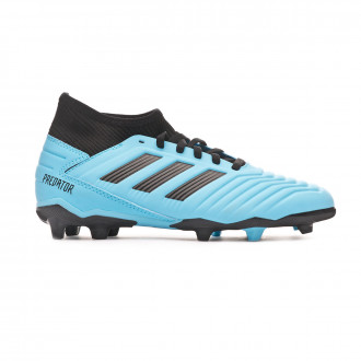 Chaussure de foot adidas Predator 19.3 FG Niño Bright cyan-Core black-Solar yellow