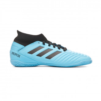 Sapatilha de Futsal adidas Predator 19.3 IN Niño Bright cyan-Core black-Solar yellow