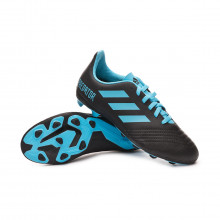 Football Boots Predator 19.4 FxG Niño Core black-Bright cyan-Solar yellow