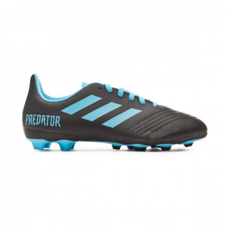 Chaussure de foot adidas Predator 19.4 FxG Niño Core black-Bright cyan-Solar yellow