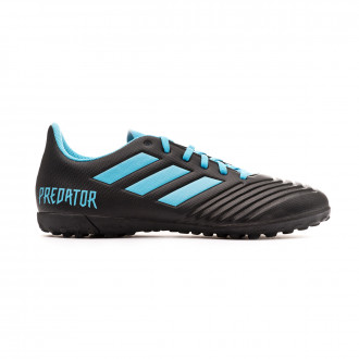 Sapatilhas adidas Predator 19.4 Turf Niño Core black-Bright cyan-Solar yellow
