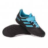 Football Boots Predator 19.4 H&L Turf Niño Core black-Bright cyan-Solar yellow