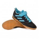 Futsal Boot Predator 19.4 H&L Niño Core black-Bright cyan-Solar yellow