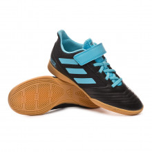 Zapatilla Predator 19.4 H&L Niño Core black-Bright cyan-Solar yellow