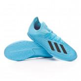 Futsal Boot X 19.3 IN Niño Bright cyan-Core black-Shock pink