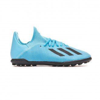 Football Boot adidas X 19.3 Turf Niño Bright cyan-Core black-Shock pink