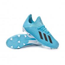 Football Boots X 19.3 FG Niño Bright cyan-Core black-Shock pink