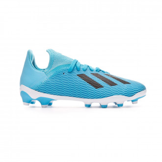 Chuteira adidas X 19.3 MG Niño Bright cyan-Core black-Shock pink