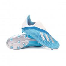 Zapatos de fútbol X 19.3 LL FG Niño Bright cyan-Core black-Shock pink