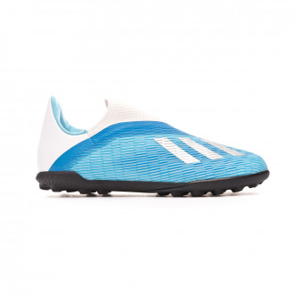 Football Boot adidas X 19.3 LL Turf Niño Bright cyan-Core black-Shock pink