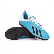 Chaussure de football X 19.4 Turf Enfant Bright cyan-Core black-Shock pink