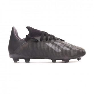 Chuteira adidas X 19.3 FG Niño Core black-Utility black-Silver metallic