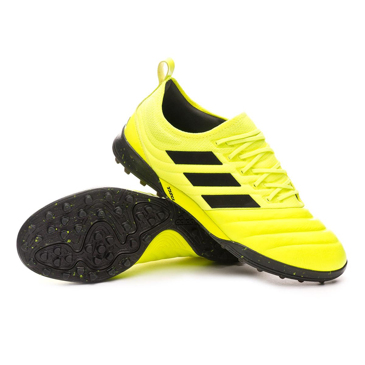 emulsión Validación oasis  Bota de fútbol adidas Copa 19.1 Turf Solar yellow-Core black-Solar yellow -  Tienda de fútbol Fútbol Emotion