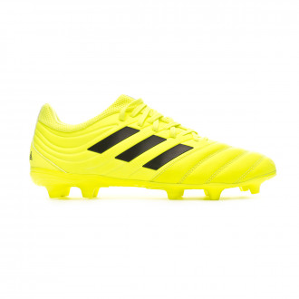 Chaussure de foot adidas Copa 19.3 FG Solar yellow-Core black-Solar yellow