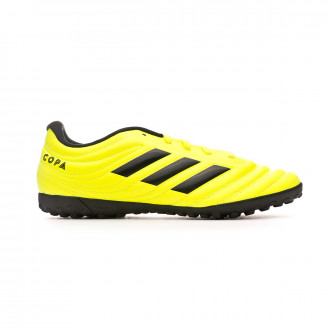 Chaussure de football adidas Copa 19.4 Turf Solar yellow-Core black-Solar yellow