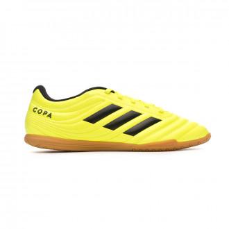 Chaussure de futsal adidas Copa 19.4 IN Solar yellow-Core black-Solar yellow