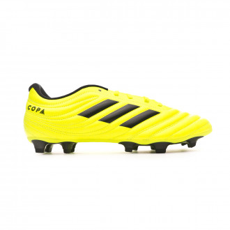 Zapatos de fútbol adidas Copa 19.4 FG Solar yellow-Core black-Solar yellow