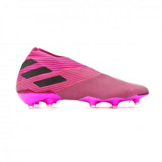 Chuteira  adidas Nemeziz 19+ FG Shock pink-Core black-Shock pink
