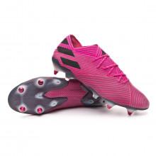 Chuteira Nemeziz 19.1 SG Shock pink-Core black-Shock pink
