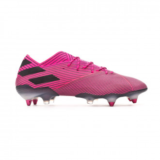 Chaussure de foot adidas Nemeziz 19.1 SG Shock pink-Core black-Shock pink
