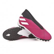 Chaussure de football Nemeziz 19.3 LL Turf Shock pink-White-Core black