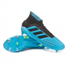 Chuteira Predator 19.1 SG Bright cyan-Core black-Solar yellow