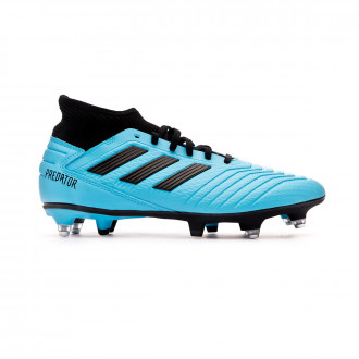 Chaussure de foot adidas Predator 19.3 SG Bright cyan-Core black-Solar yellow