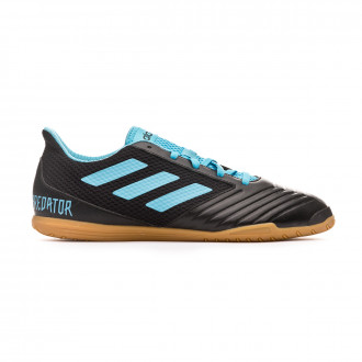 Sapatilha de Futsal adidas Predator 19.4 IN Sala Core black-Bright cyan-Solar yellow