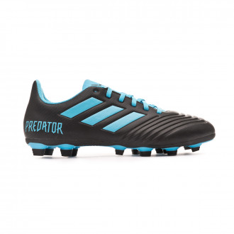 Chuteira adidas Predator 19.4 FxG Core black-Bright cyan-Solar yellow