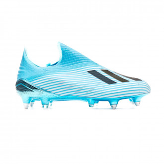 Chaussure de foot adidas X 19+ SG Bright cyan-Core black-Shock pink
