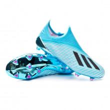 Chaussure de foot X 19+ FG Bright cyan-Core black-Shock pink