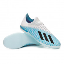 Sapatilha de Futsal X 19.1 IN Bright cyan-Core black-Shock pink