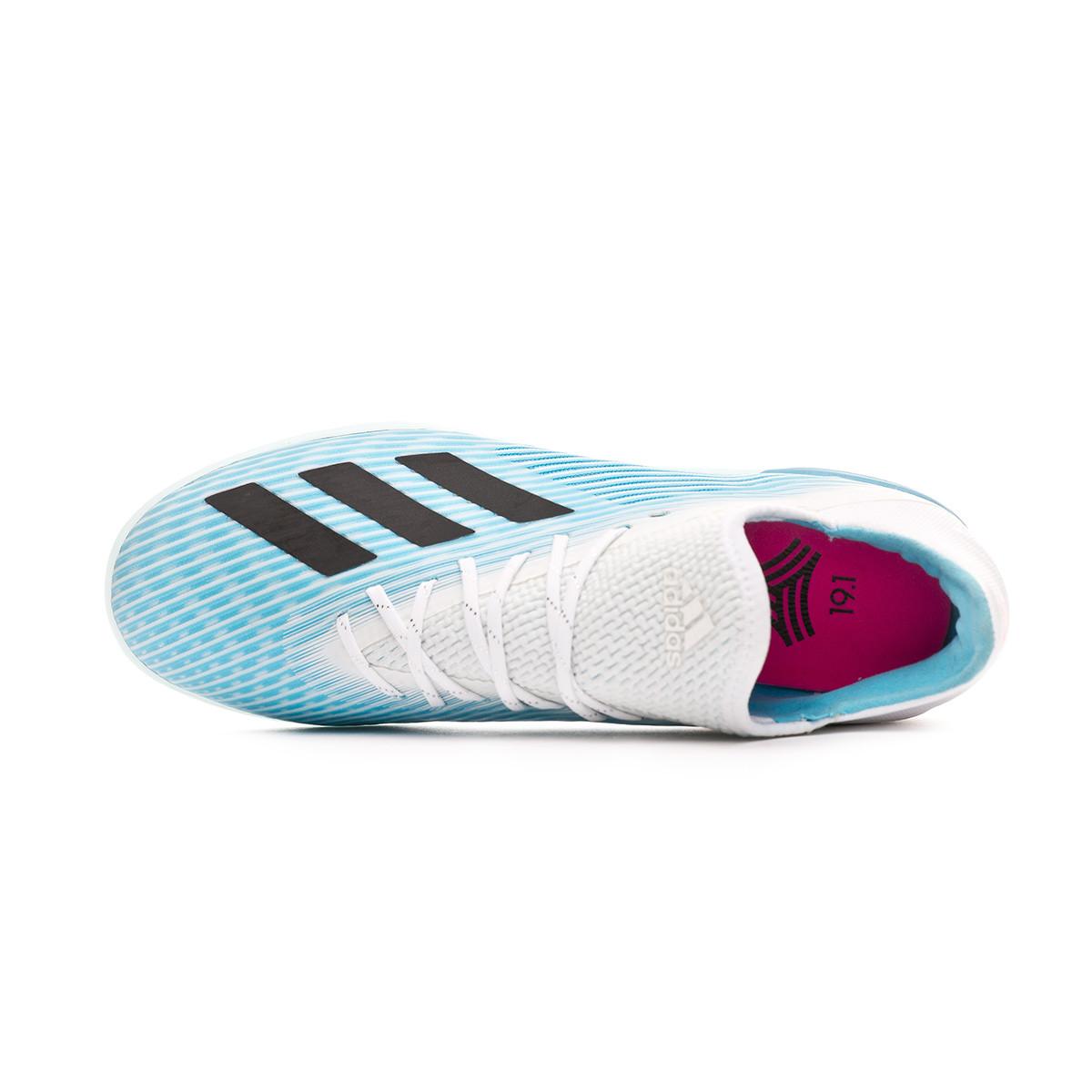 Chaussure de futsal adidas X 19.1 IN Bright cyan Core black