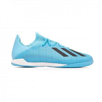 Sapatilha de Futsal adidas X 19.3 IN Bright cyan-Core black-Shock pink